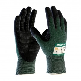 PIP 34-8443/S ATG Seamless Knit Engineered Yarn Glove with Premium Nitrile Coated MicroFoam Grip on Palm & Fingers Micro Dot Palm Small 6 DZ
