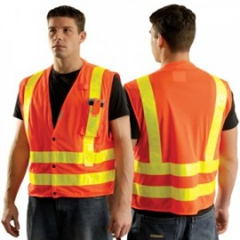 OccuLux Orange Regular Mesh Vest
