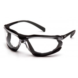 Pyramex  Proximity - Black frame/ Clear anti-fog lens Polycarbonate Safety Glasses - 12 / BX