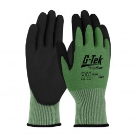PIP 16-665/M G-Tek Seamless Knit PolyKor Blended Glove with Polyurethane Coated Smooth Grip on Palm & Fingers Medium 6 DZ