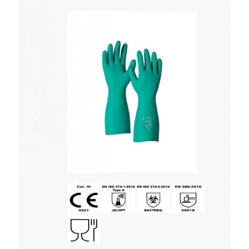 Dupont™ Tychem®  NT480 GR CF Flock-Lined, 15 Mil Glove 144/Pairs