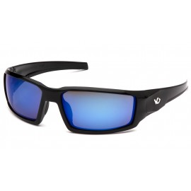 Venture Gear  Pagosa  Black Frame/Ice Blue Mirror AntiFog Lens  Safety Glasses  1 / EA
