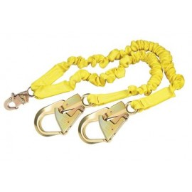 DBI-Sala ShockWave2 100% Tie-Off Shock Absorbing Lanyard - 1244409 - Aluminum Rebar Hooks - 6 ft.