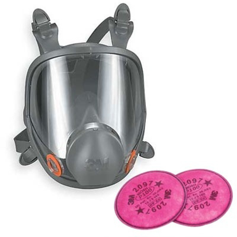 More Views 3m 6000 Series Full Face Mold Remediation Respirator