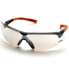 Pyramex Onix Safety Glass - Indoor/Outdoor Lens with Orange Temples