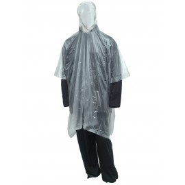 Tingley P68800.EA Poncho Clear Attached Hood Side Snaps