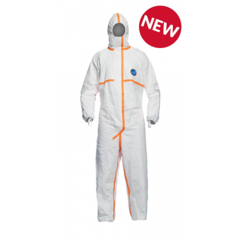 DuPont™ TJ198T Tyvek 800J Tyvek Hooded Coveralls, White (Case of 25)