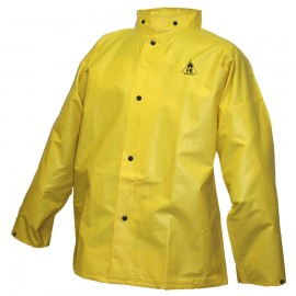 Tingley J56207.LG DuraScrim Jacket Yellow Storm Fly Front Hood Snaps