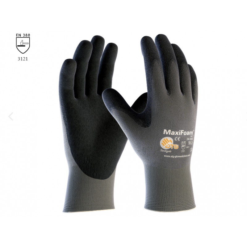PIP ATG 34-900 MaxiFoam Lite Gloves - Nitrile Foam - Gray Color (1 DZ)