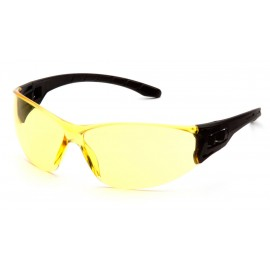 Pyramex Safety - Trulock - Black Frame/ Amber Lens Polycarbonate Safety Glasses - 12 / BX