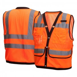 Pyramex Lumen X Hi-Vis Orange With Black Trim - Size Large