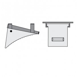 Checkers Horizontal Mounting Bracket-1500 Series Wheel Chock