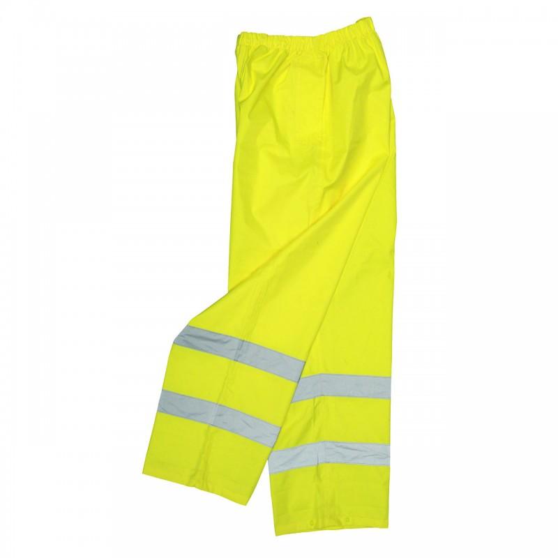 Radians Radwear Pants Class E Lightweight Rain Pant with Reflectivz™ Weatherproof Yellow Color