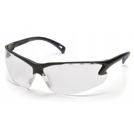 Pyramex Safety - Venture 3 - Black Frame/Clear Lens Polycarbonate Safety Glasses - 12 / BX