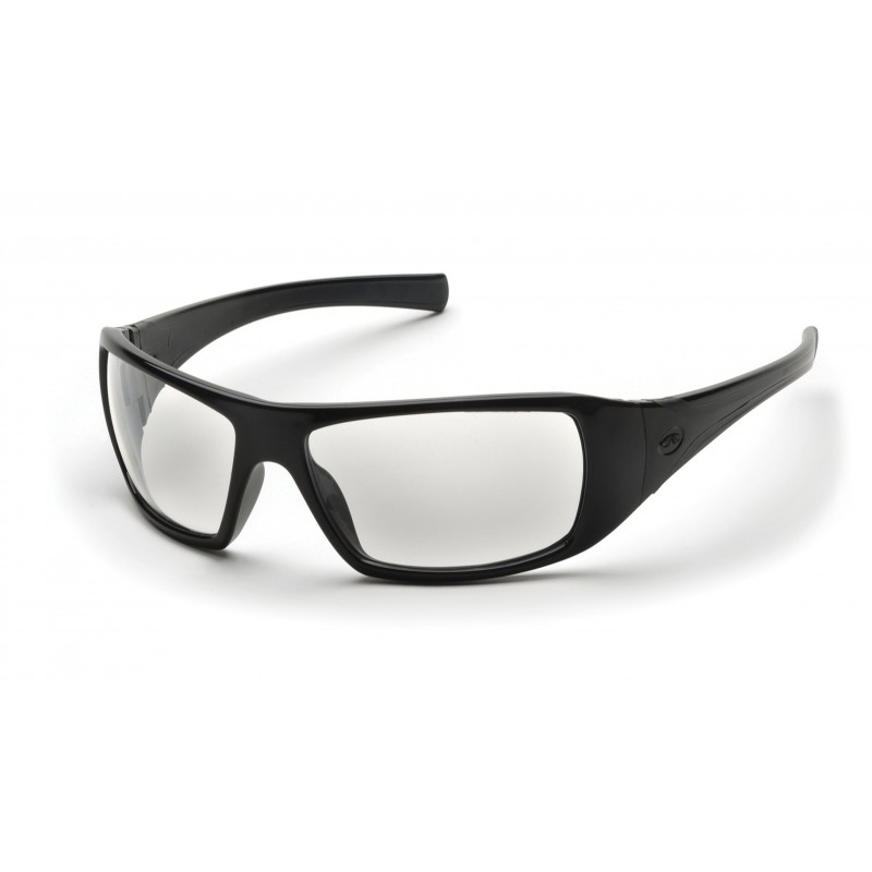 Pyramex Safety - Goliath - Black Frame/Clear Lens Polycarbonate Safety Glasses - 12 / BX