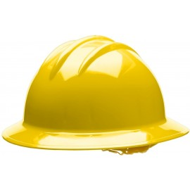 Bullard C35 35YLP 6pt. Pinlock Classic Extra Large Full Brim w/Accessory Slots Yellow Hard Hat 20/Case
