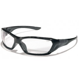 MCR ForceFlex Safety Glasses with Black Frame and Clear Lens (1 DZ)