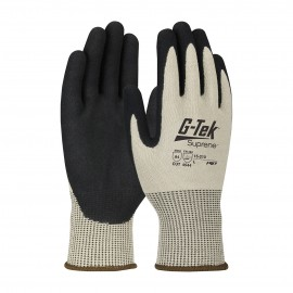 PIP 15-210/M G-Tek Seamless Knit Suprene Blended Glove with Nitrile Coated MicroSurface Grip on Palm & Fingers Medium 6 DZ