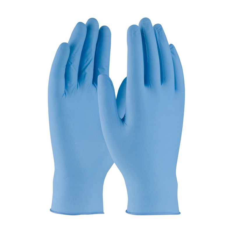 PIP 63-332/S Ambi-dex Turbo Disposable Nitrile Glove, Powdered with Textured Grip - 5 mil Small