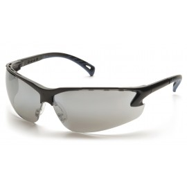 Pyramex Safety - Venture 3 - Black Frame/Silver Mirror Lens Polycarbonate Safety Glasses - 12 / BX