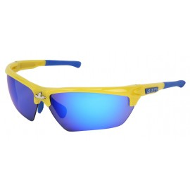 MCR Dominator Glasses Yellow Polycarbonate One Size - 12 per Box