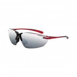 Radians Sniper Silver mirror Black/burgundy red Frame Safety Glasses Burgundy Red 12 PR/Box