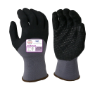Armor Guys 04-005 Work Glove Nitrile 3/4 Palm Coating with Dots 12 Pair
