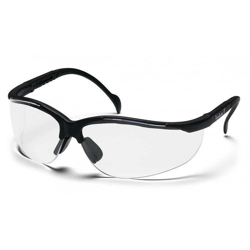 Pyramex Venture II Black Frame/Clear Lens (12 Pairs)