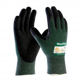 PIP 34-8743/L ATG Seamless Knit Engineered Yarn Glove with Premium Nitrile Coated MicroFoam Grip on Palm & Fingers Large 6 DZ
