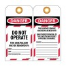 NMC LOTAG36-25 Danger Do Not Operate Tag 25/PK