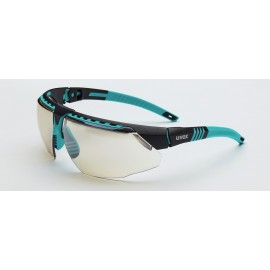 Honeywell S2884 Uvex Avatar Teal/Black Frame Reflect-50 Lens Hardcoat Coating 10/Box