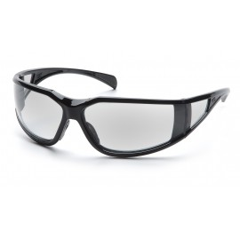 Pyramex Safety - Exeter - Glossy Black Frame/Clear Anti-Fog Lens Polycarbonate Safety Glasses - 12 Pair