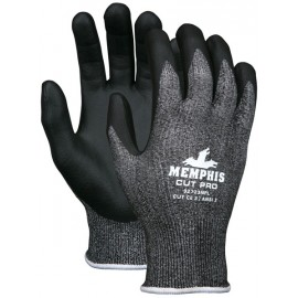 MCR Memphis Cut Pro Synthetic Material Glove Black Color - 1 DZ