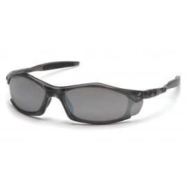 Pyramex Safety - Solara - Trans Gray Frame/Silver Mirror Lens Polycarbonate Safety Glasses - 12 / BX