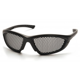 Pyramex Safety - Trifecta - Black Frame/Steel Mesh Lens Polycarbonate Safety Glasses - 12 / BX