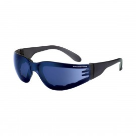 Radians Shield Blue Mirror Black Safety Glasses 12 PR/Box