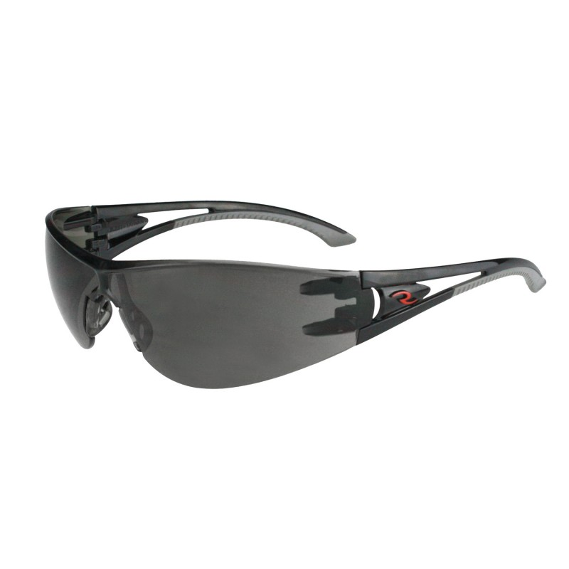 Radians Optima Polycarbonate Safety Glasses Black Color Mirror Lens  - 12  / Box