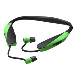 Walker's GWP-SF-NHE-BT-HVG Hearing Razor XV Neck Hearing Enhancement Retractable Ear Buds Bluetooth  High Visibility Green