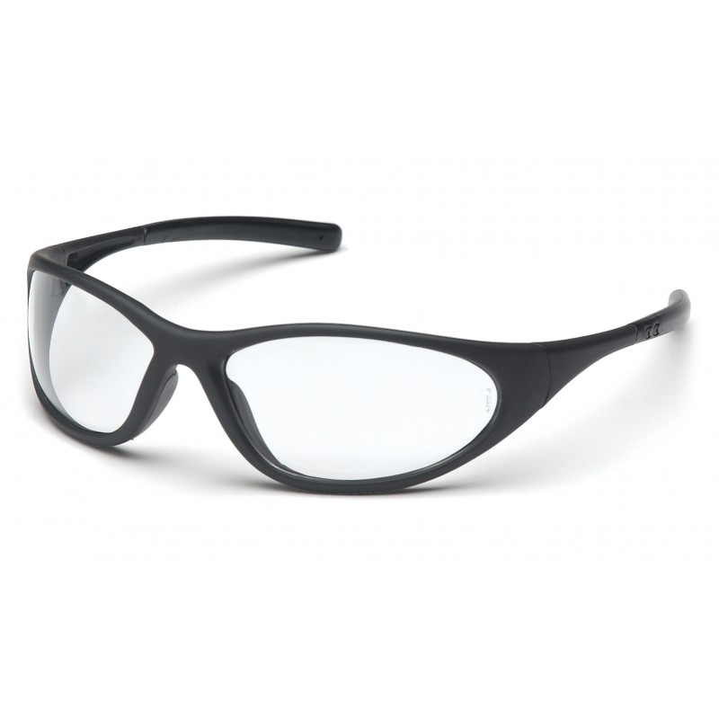 Matte Black Glasses Frame : Pyramex Safety - Zone II - Matte Black Frame/Clear Lens