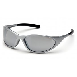 Pyramex Safety - Zone II - Silver Frame/Silver Mirror Lens Polycarbonate Safety Glasses - 12 / BX