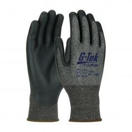 PIP 16-377/M G-Tek Seamless Knit PolyKor X7 Blended Glove with NeoFoam Coated Palm & Fingers Touchscreen Compatible Medium 6 DZ