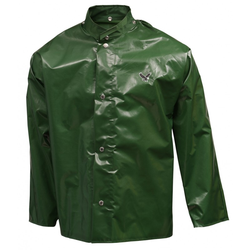 Tingley J22208.3X Iron Eagle Jacket Green Storm Fly Front Hood Snaps