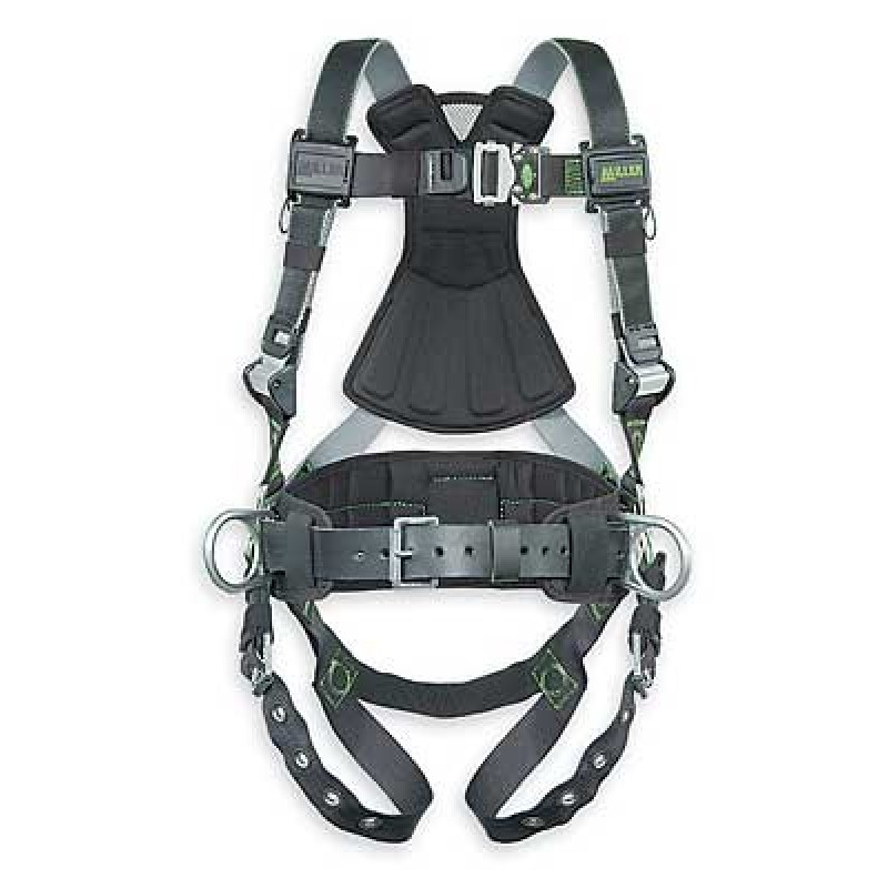 Miller Revolution Harness Back and Hip D-Rings with Quick Connect Buckle Legs