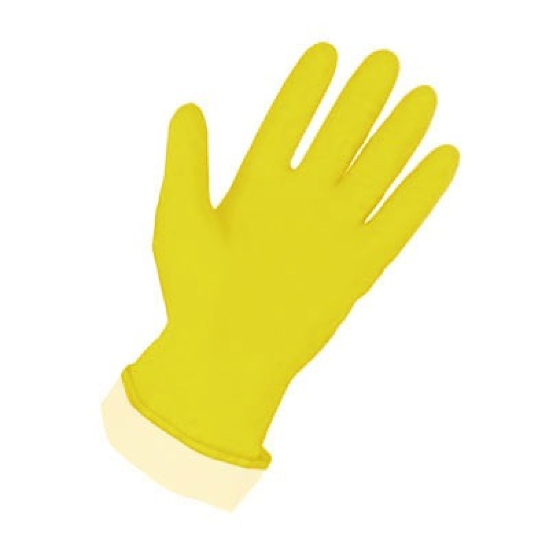 PIP 48-L160Y Assurance® Unsupported Latex, Flock Lined with Honeycomb Grip - 16 Mil 1/DZ