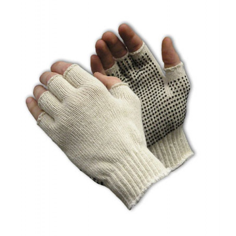 Half-Finger PVC Dot Grip Glove