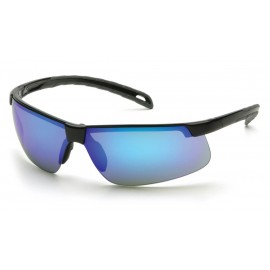 Pyramex  EverLite  Black Frame/Ice Blue Mirror Lens  Safety Glasses  12/BX