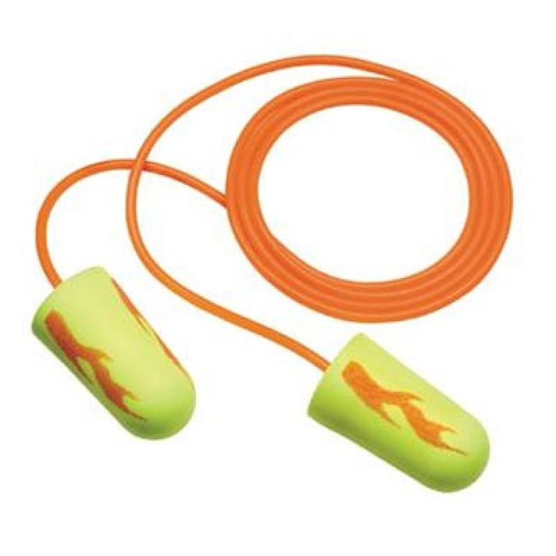 3M E-A-Rsoft Yellow Neons Blasts 311-1252 Corded Earplugs (2,000 Pair)