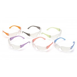 Pyramex  Intruder  Multi Color Frames/ClearHardcoated Lens  Safety Glasses  12/BX