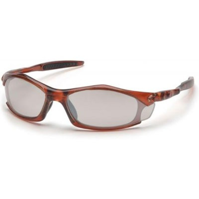 Pyramex Solara Safety Glass - Indoor/Outdoor Lens with Orange Frame