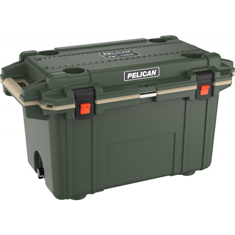 Pelican 70QT Elite Cooler OD Green/Tan | 70Q-2-ODTAN